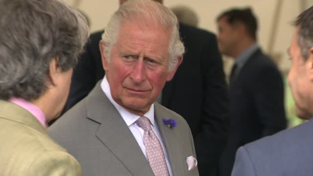 exterior shots of prince charles, prince of wales, visiting a high-tech hydrogen car company riversimple in llandrindod wells and driving a rasa... - activity stock videos & royalty-free footage