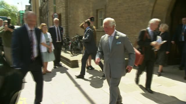 GBR: UK: Prince Charles Visits the Historic Somerville College at Oxford University to meet staff and students after it marked a 100 years of degrees for women.