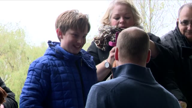 exterior shots of prince william and catherine duchess of cambridge arriving at the basildon sporting village and meeting various people on 30... - basildon stock-videos und b-roll-filmmaterial