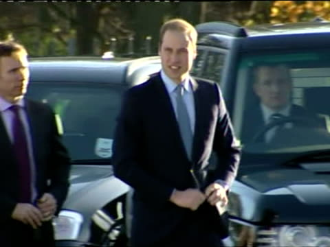 exterior shots of prince william arriving at the haven point leisure centre in south shields and greeting members of the public prince william meets... - south shields stock videos & royalty-free footage