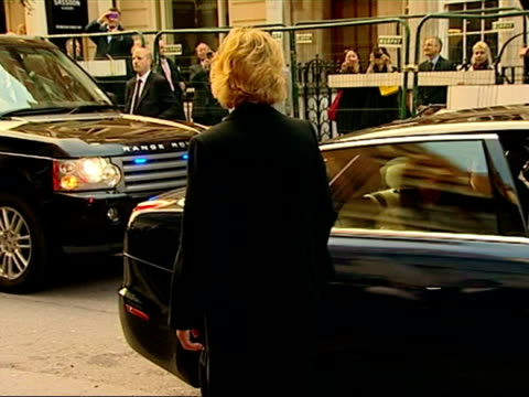 exterior shots of prince william & catherine duchess of cambridge arrive together at the thirty club for a dinner at claridge's hotel. catherine... - claridge's stock videos & royalty-free footage
