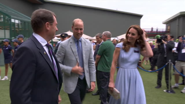 GBR: Prince William and Kate Middleton Attend Wimbledon Men's Singles Final 2019
