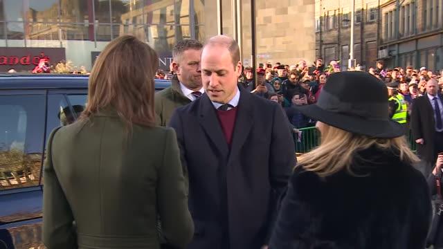 GBR: The Duke and Duchess of Cambridge visit Bradford