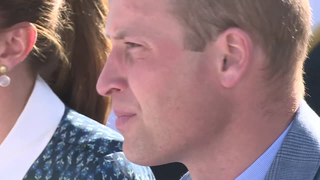 exterior shots of prince william, duke of cambridge and catherine, duchess of cambridge sitting outside at an event at the queen elizabeth hospital... - queen's birthday stock videos & royalty-free footage