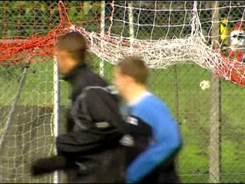 exterior shots of prince william training and playing football with children from charlton football team. - british royalty stock videos & royalty-free footage