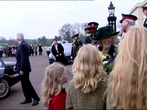exterior shots of prince william walking from sandhurst after his passing out ceremony with prince charles and camilla exterior shots of prince... - passing out parade stock videos & royalty-free footage