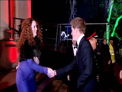 exterior shots of princes william harry out of car and greeted by rebekah brooks exterior back views of rebekah brooks introducing the princes to... - レベッカ ブルックス点の映像素材/bロール