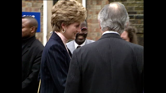 Exterior shots of Princess Diana arriving to visit a YMCA centre in Stockwell>> on February 02 1993 in London England