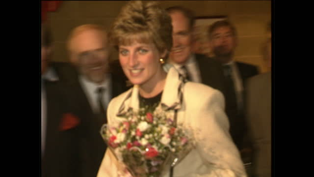 exterior shots of princess diana officially opening the barnardos centre on november 19, 1991 in armagh, northern ireland. - princess stock videos & royalty-free footage