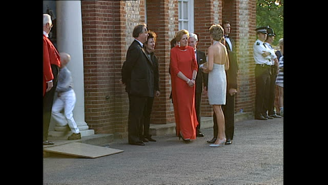 exterior shots of princess diana princess of wales arriving at the serpentine gallery in hyde park on 28 june 1995 london england - the serpentine gallery stock videos & royalty-free footage