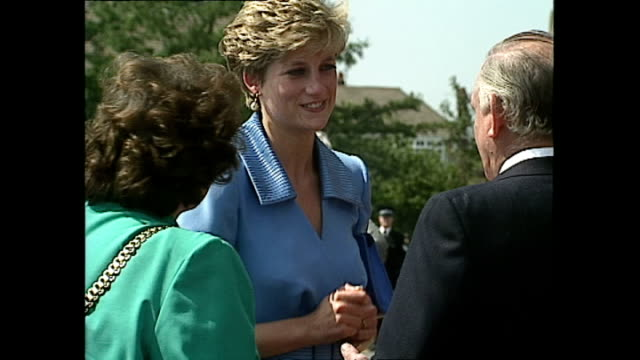 exterior shots of princess diana princess of wales arriving at merseyside police training centre and greet people on june 11 1992 in liverpool england - sign language stock videos & royalty-free footage