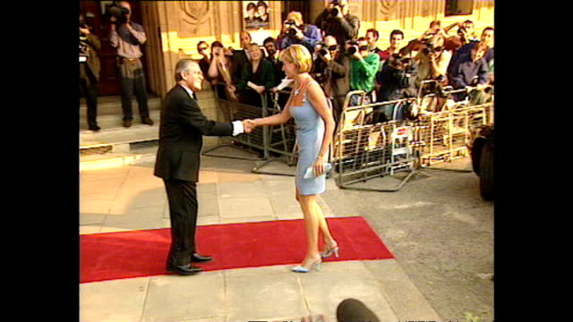 Exterior shots of Princess Diana Princess of Wales arriving for the English National Ballet's Swan Lake on 3 June 1997 London England