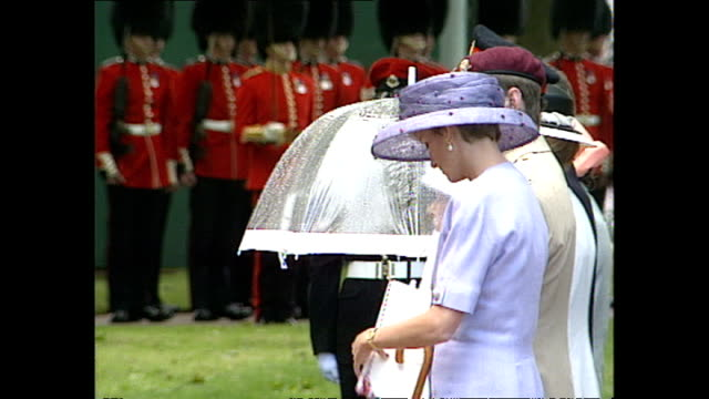 exterior shots of princess diana princess of wales attending the canadian dday memorial in green park chatting with prince andrew duke of york and... - teilnehmen stock-videos und b-roll-filmmaterial