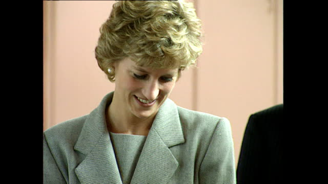 Exterior shots of Princess Diana Princess of Wales visiting Turning Point's Glasgow Drug Crisis centre for opening on 16 May 1995 Glasgow Scotland