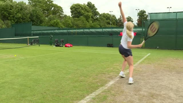 GBR: Sky News meets Fran Jones who is a rising star in British Tennis, She's been given a wildcard for Wimbledon qualifying which starts on Monday, despite having only six fingers and seven toes because of a condition she was born with.