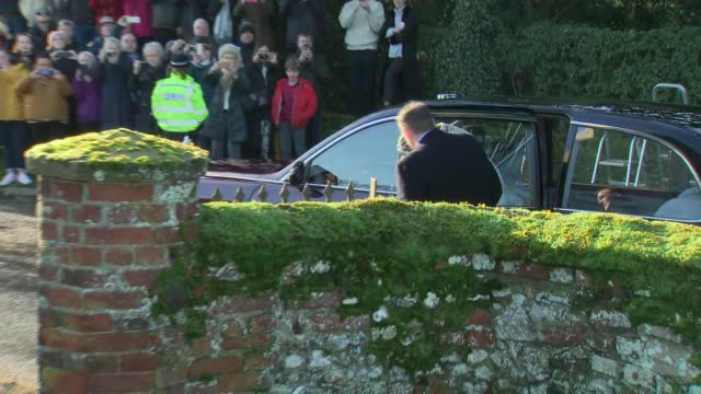 GBR: The Queen attended a Church service in Norfolk this morning accompanied by Prince Andrew.