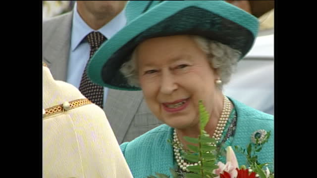 Exterior shots of Queen Elizabeth II and Prince Philip Duke of Edinburgh visiting St Andrews Church with Reverend Geoff Hickman Vicar of St Andrews...