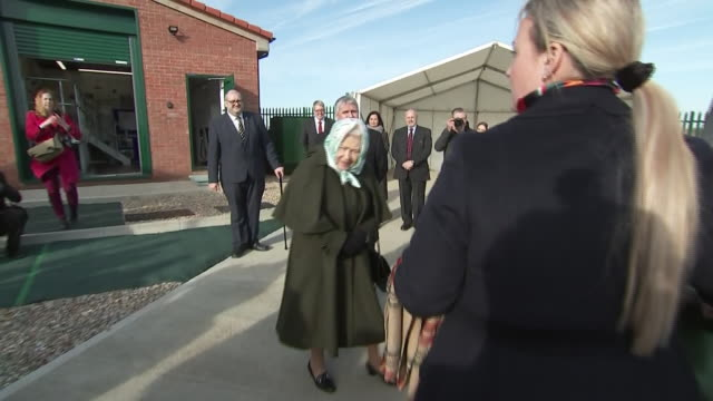 exterior shots of queen elizabeth ii departing the wolferton's new pumping station on 5th february 2020 in sandringham england - pumping station stock videos & royalty-free footage