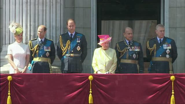 Exterior shots of Queen Elizabeth II Prince Philip Duke of Edinburgh Prince William Duke of Cambridge Prince Edward Earl of Wessex Sophie Countess of...