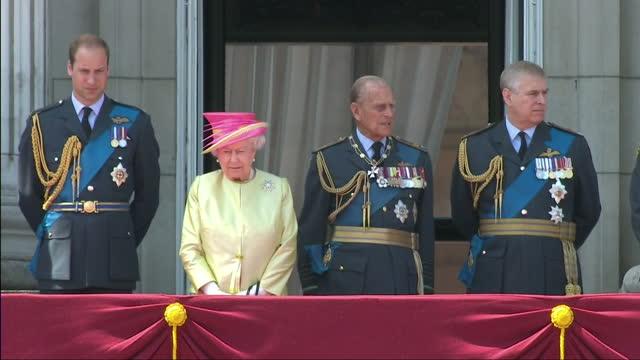 exterior shots of queen elizabeth ii, prince philip, duke of edinburgh, prince william, duke of cambridge, prince edward, earl of wessex, sophie,... - prince edward, earl of wessex stock videos & royalty-free footage