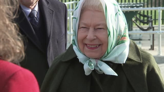 exterior shots of queen elizabeth ii visiting the wolferton's new pumping station on 5th february 2020 in sandringham england - pumping station stock videos & royalty-free footage