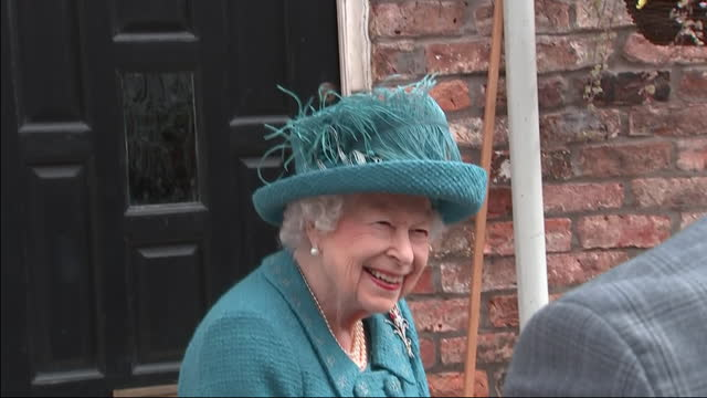 exterior shots of queen elizabeth visiting the set of coronation street to help celebrate the soap's diamond jubilee, meeting crew members on 8th... - soap opera stock videos & royalty-free footage