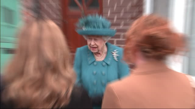 exterior shots of queen elizabeth visiting the set of coronation street to help celebrate the soap's diamond jubilee, meeting crew members and... - soap opera stock videos & royalty-free footage