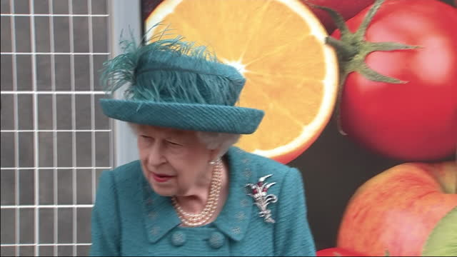 exterior shots of queen elizabeth visiting the set of coronation street to help celebrate the soap's diamond jubilee, meeting cast and crew members... - soap opera stock videos & royalty-free footage