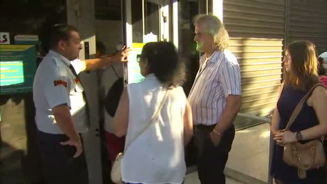exterior shots of queues outside a bank on july 20 2015 in athens greece - 緊急援助点の映像素材/bロール