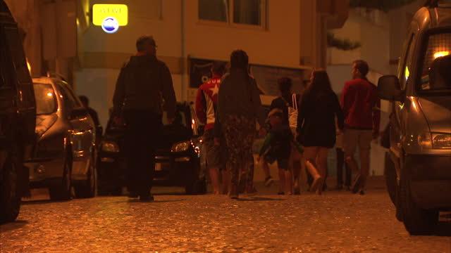 exterior shots of quiet nightlife around praia da luz on 26 october in praia da luz, portugal - madeleine mccann stock videos & royalty-free footage