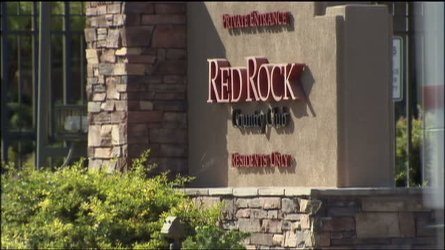 exterior shots of red rock country club a private estate on which michael jackson's doctor conrad murray lived on august 29 2009 in las vegas nevada - grounds stock videos & royalty-free footage