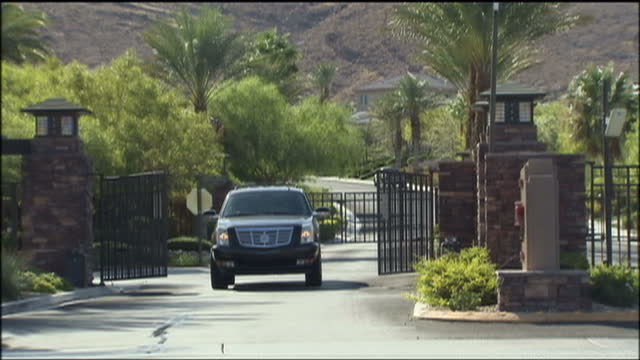 exterior shots of red rock country club, a private estate on which michael jackson's doctor conrad murray lived on august 29, 2009 in las vegas,... - country club stock videos & royalty-free footage