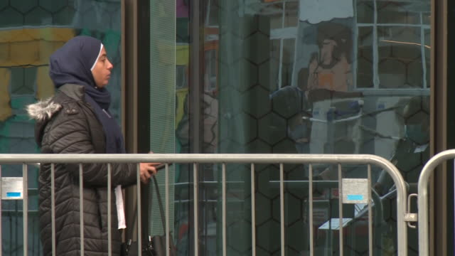 exterior shots of relatives and survivors outside christchurch high court with armed police outside during the sentencing of mosque killer brenton... - sentencing stock videos & royalty-free footage