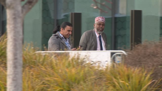 exterior shots of relatives of victims and survivors of the christchurch mosque shootings including survivor abdul aziz outside court during the... - sentencing stock videos & royalty-free footage