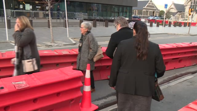 exterior shots of relatives of victims or survivors arriving at christchurch higho court for the sentencing of brenton tarrant on 27 august 2020 in... - {{asset.href}} stock-videos und b-roll-filmmaterial