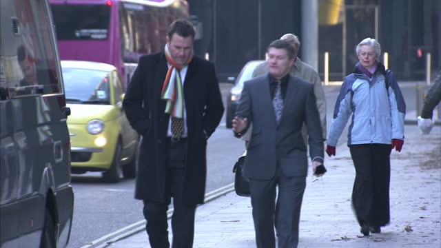 exterior shots of ricky hatton walking to court where he's being sued for £1 million by his former trainer billy graham ricky hatton court arrival on... - former stock videos & royalty-free footage
