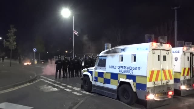 GBR: Another night of violence in Belfast, despite appeals for calm following the death of Prince Philip