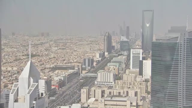 exterior shots of riyadh skyline, captial of saudi arabia on 2 december 2019 in riyadh, saudi arabia. - saudi arabia stock videos & royalty-free footage