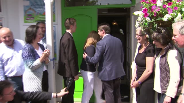 exterior shots of robert jenrick mp cutting ribbon to reopen newark pub affected by winter flooding on june 06 2014 in newark upon trent england - british liberal democratic party stock videos and b-roll footage