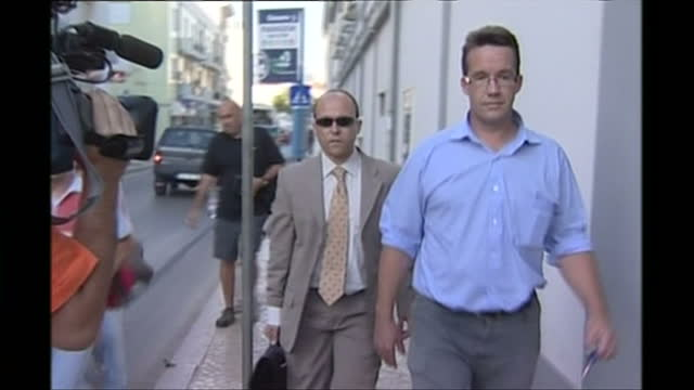 Exterior shots of Robert Murat departing from the police station getting into his car on July 10 2007 in Praia Da Luz Portugal