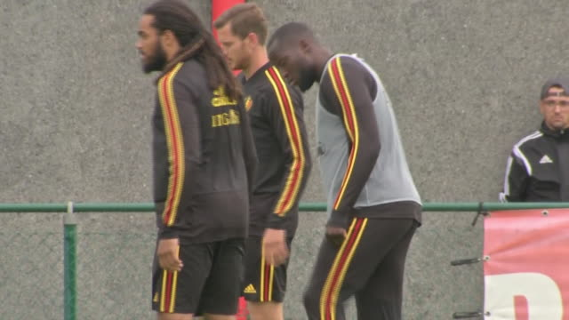 exterior shots of romelu lukaku training with the belgium national team. - national team stock videos & royalty-free footage