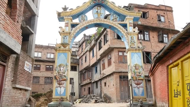 exterior shots of rubble from historical buildings destroyed after a major earthquake hit the area filmed on april 30 2015 in kathmandu nepal - major military rank stock videos and b-roll footage