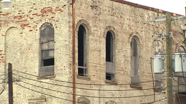 Exterior shots of rundown and derelict buildings and houses in Selma>> on March 07 2015 in Selma Alabama