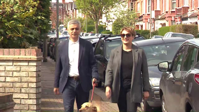 GBR: Sadiq Khan casts his vote on election day