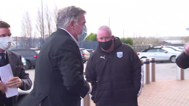 exterior shots of sam allardyce arriving at the hawthorns stadium after becoming west brom manager. - sam west stock videos & royalty-free footage