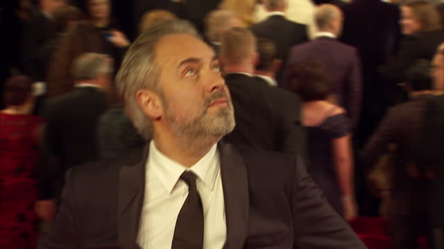 exterior shots of sam mendes attending the royal film performance of 'spectre' at the royal albert hall on october 26 2015 in london england - spectre 2015 film stock videos and b-roll footage