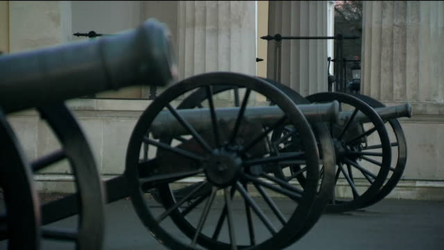 exterior shots of sandhurst royal military academy's parade ground and surrounding playing fields as soldiers make preparations for the arrival of... - surrounding stock videos & royalty-free footage