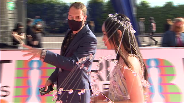 exterior shots of singer, griff arriving on the red carpet for the 2021 brit awards on the 11th may 2021 in london, england - performing arts event stock videos & royalty-free footage