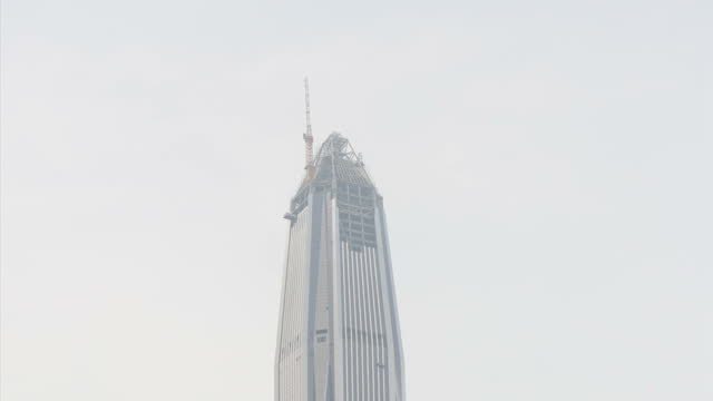 Exterior shots of skyscrapers in Shenzhen city centre including a couple which are still under construction on September 20 2015 in Shenzhen China