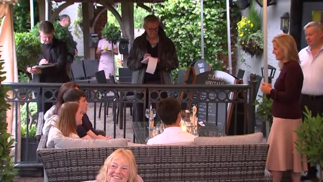 exterior shots of sophie countess of wessex visiting her local pub the half moon and talking to the landlord staff and customers on 8 july 2020 in... - half moon stock videos & royalty-free footage
